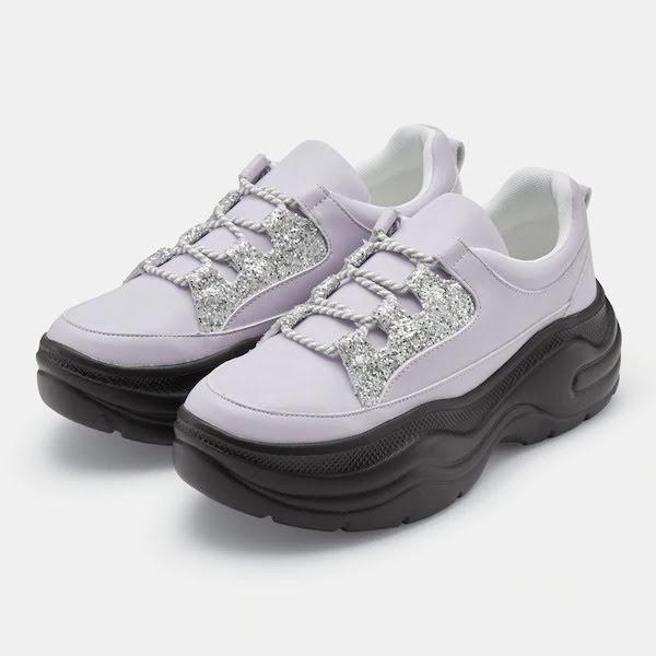 GU ジーユー ボリューム ソール スニーカー 厚底 ライト パープル Volume-Sole-Sneaker-YGE-light purple
