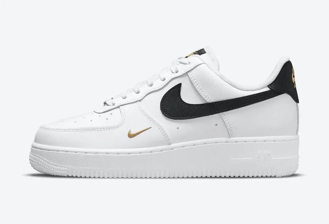 """ナイキ エア フォース 1 ロー """"ホワイト/ブラック/ゴールド"""" Nike-Air-Force-1-Low-White-Black-Gold-CZ0270-102-side"""