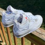 """ナイキ エア ジョーダン 4 """"ホワイト オレオ"""" Nike-Air-Jordan-4-White-Oreo-CT8527-100-pair detail"""