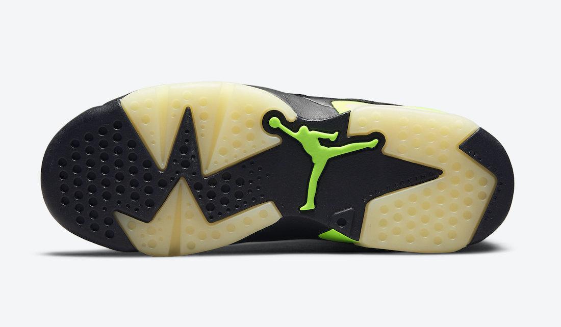 """ナイキ エア ジョーダン 6 """"エレクトリック グリーン""""/ GS Nike-Air-Jordan-6-Electric-Green-GS-384665-003-sole"""