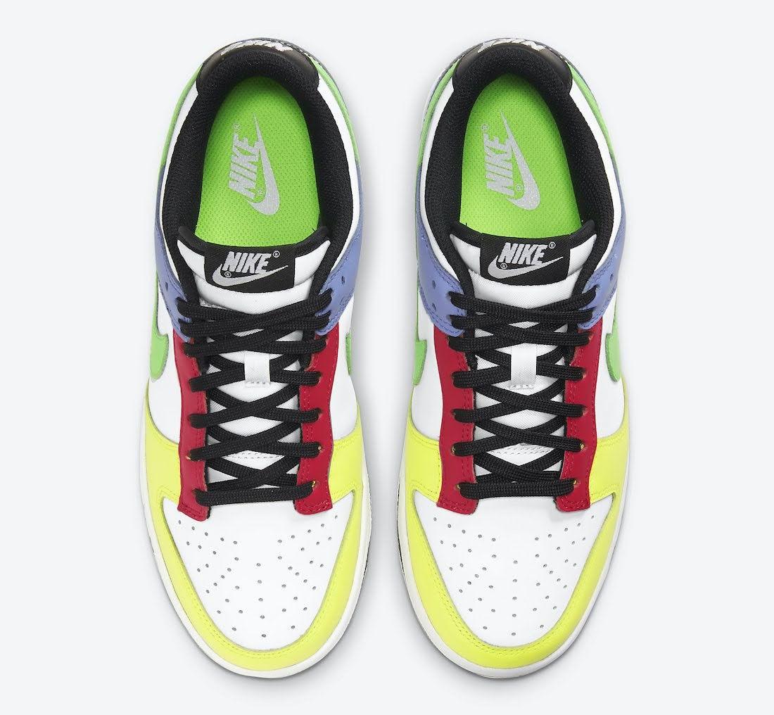 """ナイキ ウィメンズ ダンク ロー """"マルチカラー"""" Nike-Dunk-Low-Multi-Color-DD1503-106-top"""