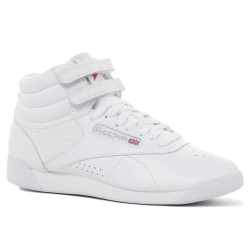 リーボック 2431 フリースタイル ホワイト ハイカット スニーカー Reebok Freestyle 2431 White Hi top sneakers