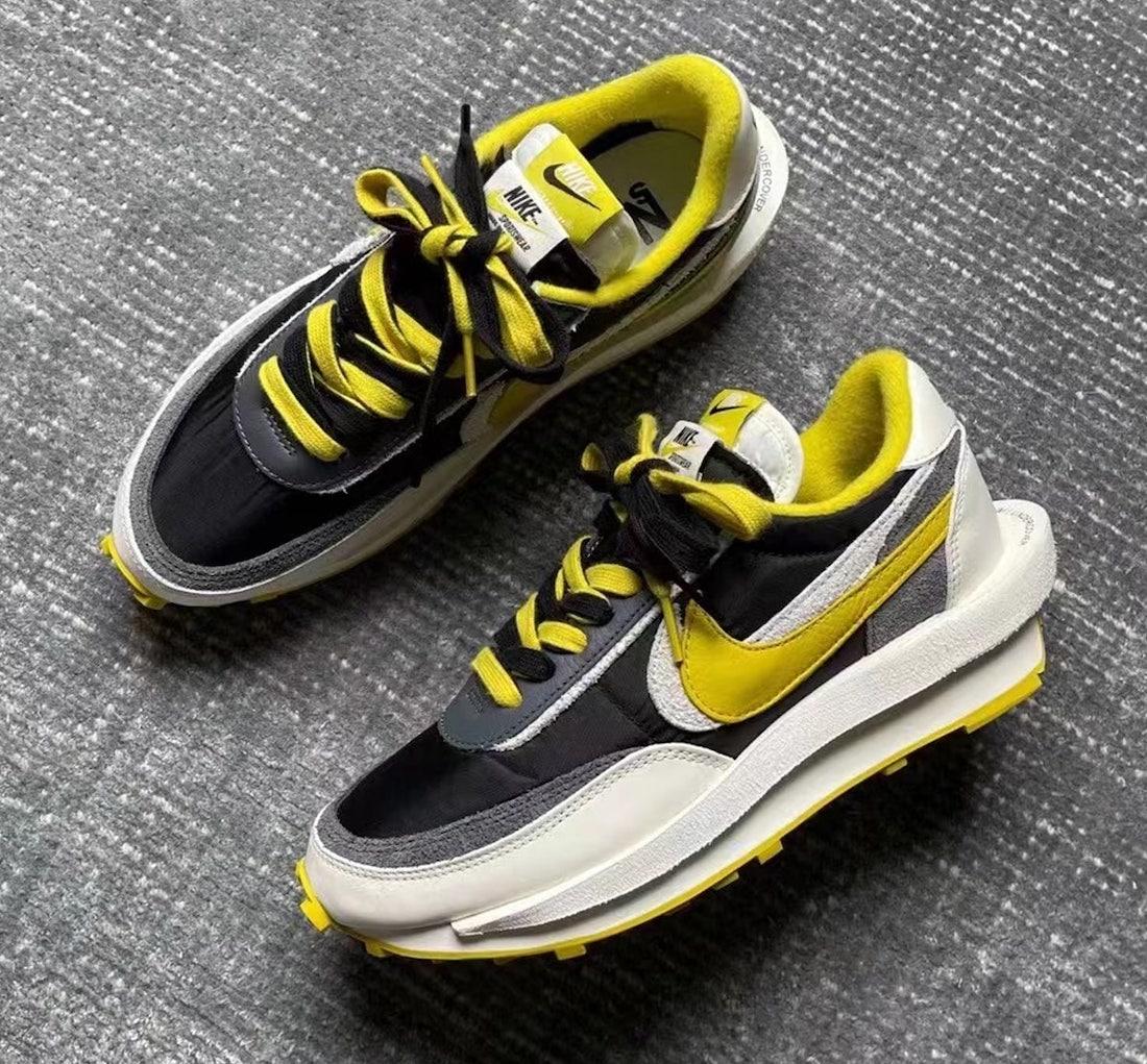 Sacai × UNDERCOVER × Nike LDWaffle サカイ × アンダーカバー × ナイキ LDワッフル BLACK/SAIL/DARK GREY/BRIGHT CITRON DJ4877-001 detail main