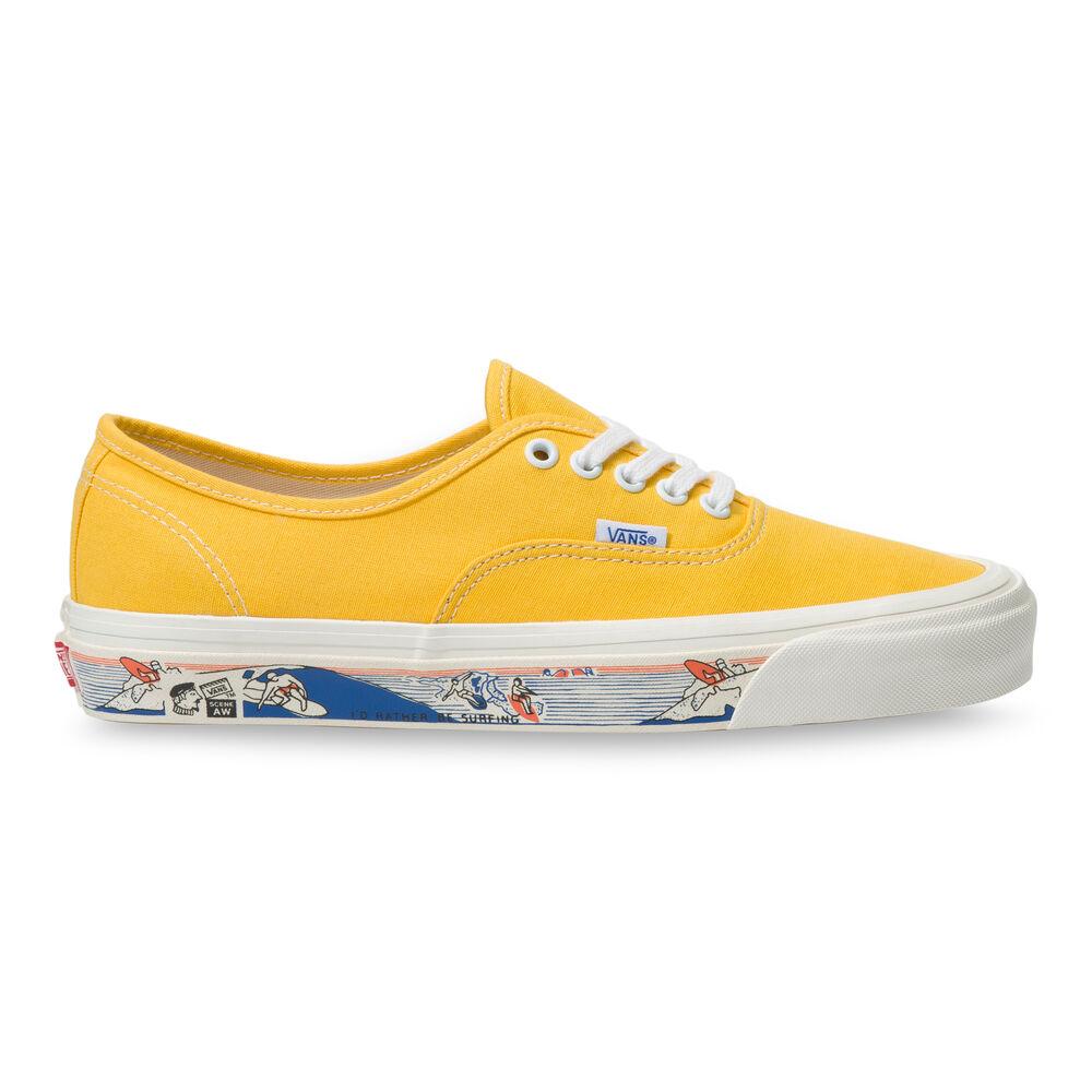 """ヴァンズ オーセンティック 44 DX アナハイム ファクトリー コレクション """"サイドウォール プリント"""" / イエロー Vans_Anaheim_Factory_Authentic_44DX_Yellow_VN0A54F241Q1_side"""