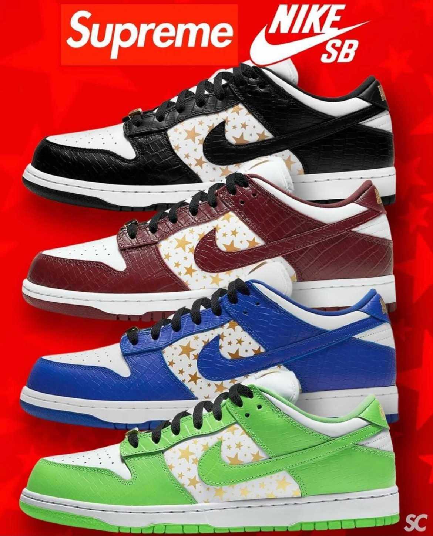 ナイキ SB x シュプリーム ダンク ロー OG クイックストライク 全4色 Nike-SB-Supreme-Dunk-Low-OG-QS-4-Colors-DH3228-100-DH3228-101-DH3228-102-DH3228-103-main 4colors