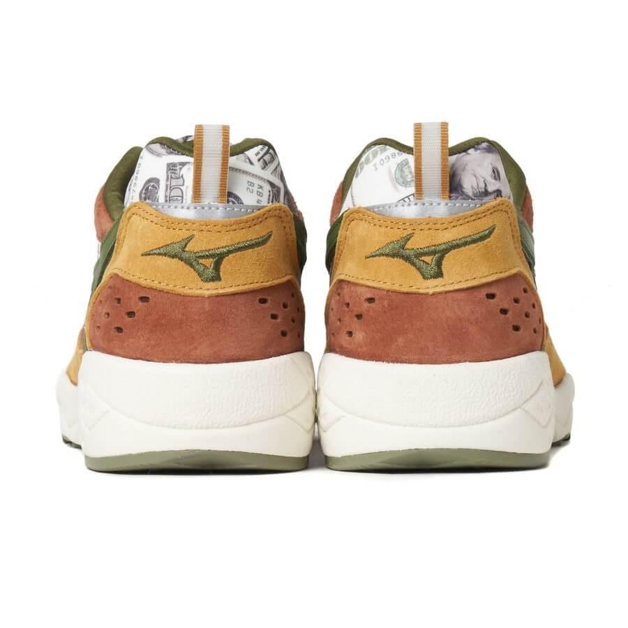 24karats × Mita Sneakers × Mizuno Contender 24カラッツ × ミタ スニーカーズ × ミズノ コンテンダー オリーブ/ブラウン/ホワイト D1GG210501