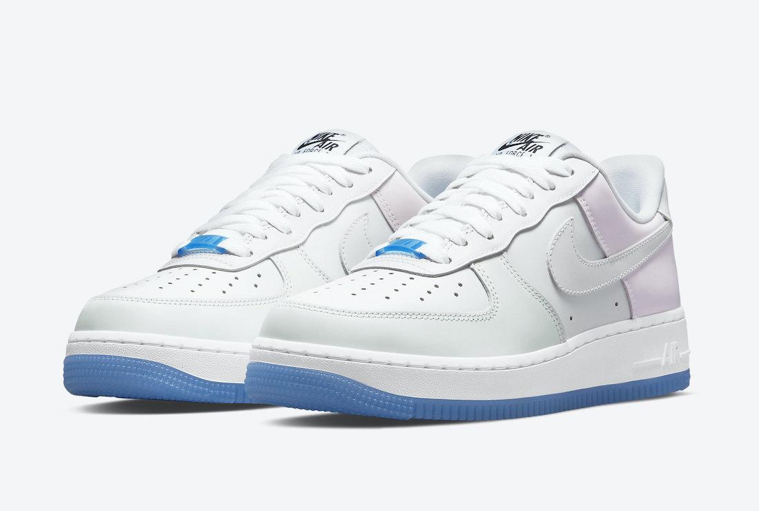 """ナイキ エア フォース 1 '07 LX """"UV"""" (マルチカラー) Nike-Air-Force-1-Low-UV-DA8301-100-pair"""