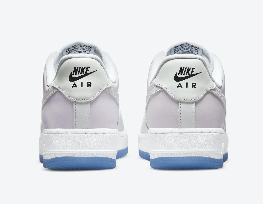 """ナイキ エア フォース 1 '07 LX """"UV"""" (マルチカラー) Nike-Air-Force-1-Low-UV-DA8301-100-heel"""