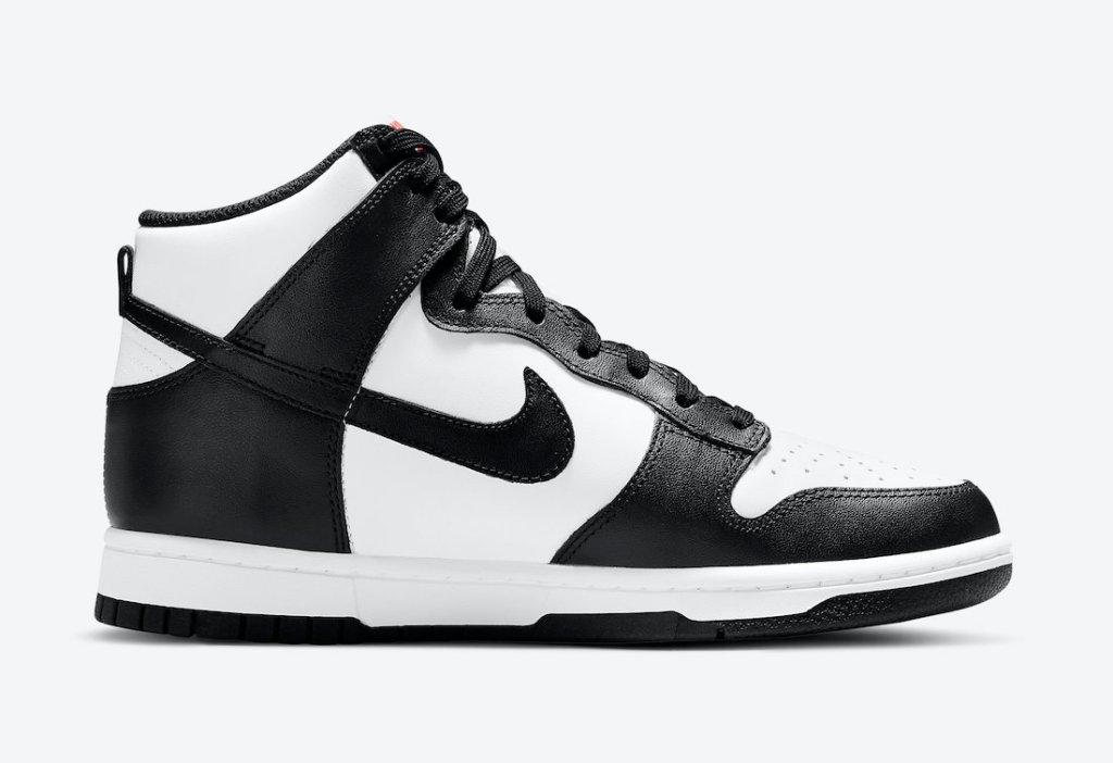 """ナイキ ダンク ハイ """"ブラック ホワイト"""" Nike-Dunk-High-White-Black-DD1869-103 side right"""