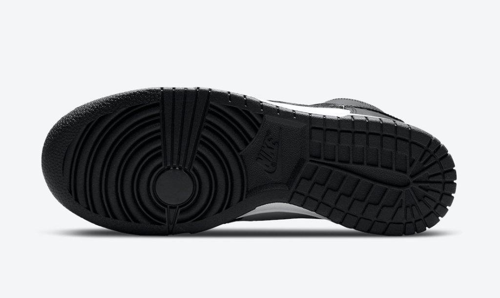 """ナイキ ダンク ハイ """"ブラック ホワイト"""" Nike-Dunk-High-White-Black-DD1869-103 sole"""