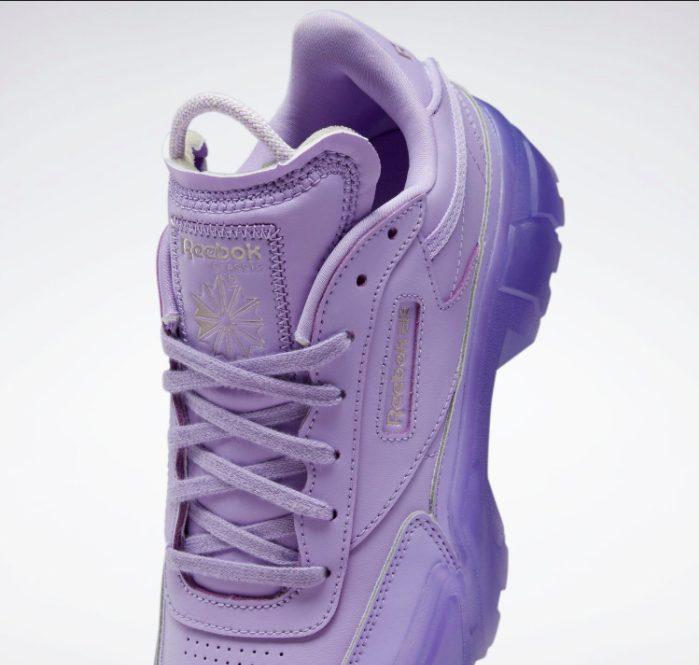 """リーボック × カーディビー """"クラブ シー カーディ"""" / クリスプパープル Reebok-Cardi-B-Club-C-Cardi-Crisp-purple-GX7632-tongue"""