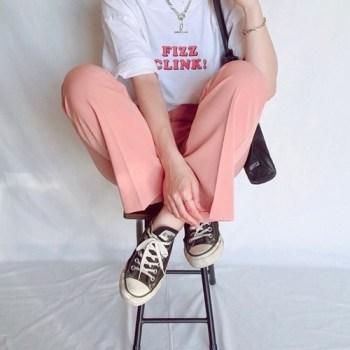 スラックス スニーカー コーデ カラーパンツ WEAR kco3211 19091639 colorpants with sneakers-01
