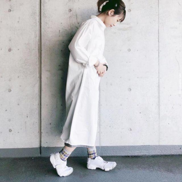 コーデ:柄物靴下xエアリフト
