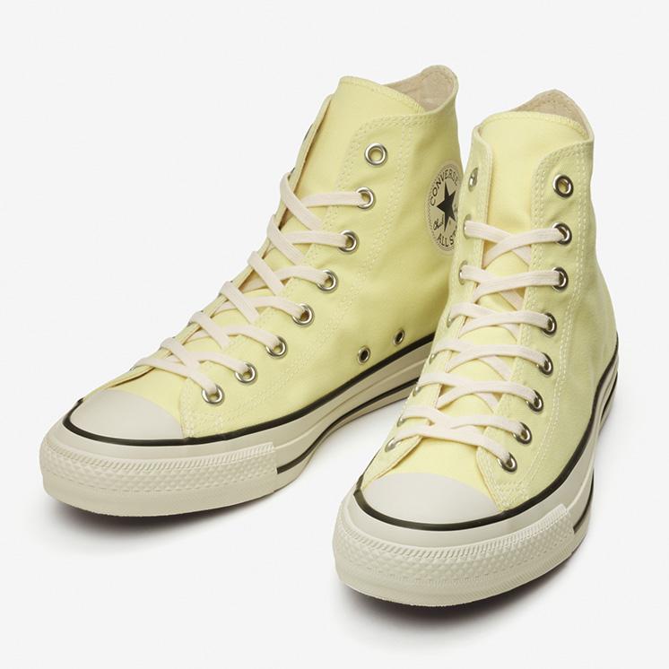 コンバース オールスター PET キャンバス HI/ ライト イエロー converse-all-star-pet-canvas-hi-light-yellow-31303750-pair-front