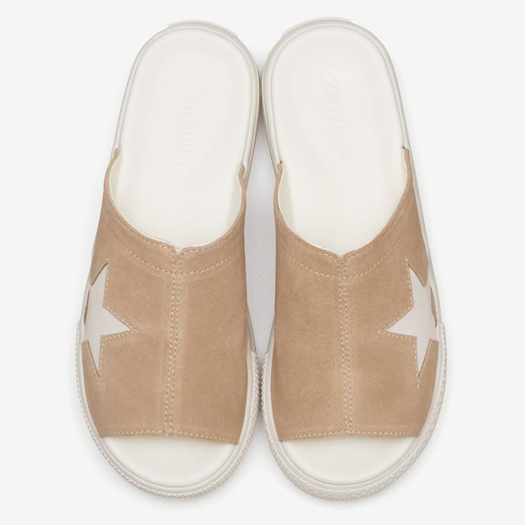 コンバース CV サンダル PLTS スウェード (ベージュ) converse-cv-sandal-plts-suede-beige-35500261-pair-top