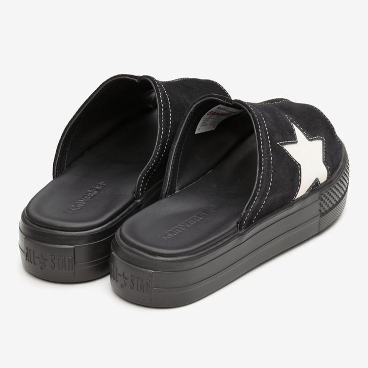 コンバース CV サンダル PLTS スウェード (ブラック) converse-cv-sandal-plts-suede-black-35500260-pair-back