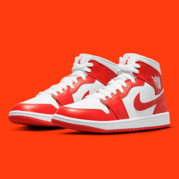 nike wmns Air Jordan 1 mid Hot Orange BQ6472-116