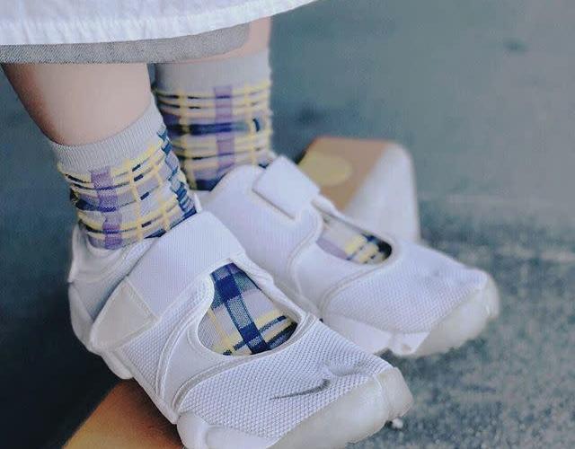 コーデ③:柄物靴下xエアリフト nike-air-rift-socks-style-print-socks