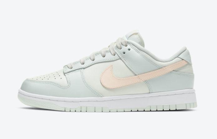 "Nike Dunk Low WMNS ""Barely Green"" ナイキ WMNS ダンクロー ""ベアリー グリーン"" Sail/Crimson Tint-Barely Green-White DD1503-104 main"