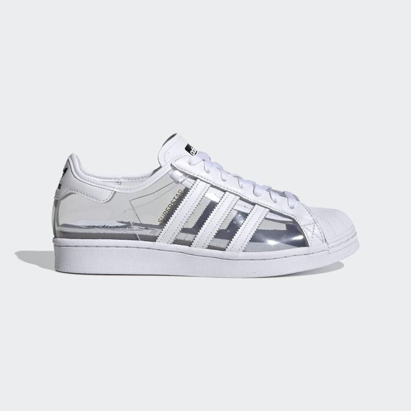 """アディダス オリジナルス スーパースター """"クリアホワイト"""" adidas_Superstar_ClearWhite_FZ0245_side"""