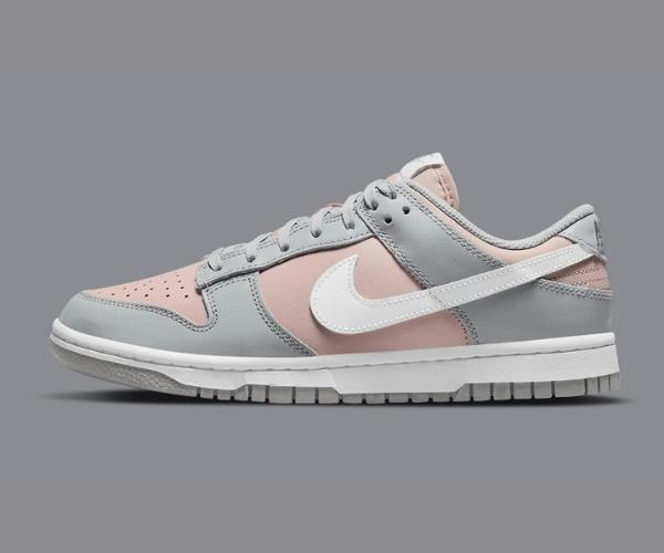 ナイキ ウィメンズ ダンク ロー / ピンク & グレー Nike-Dunk-Low-Pink-Grey-DM8329-600-eyecatch