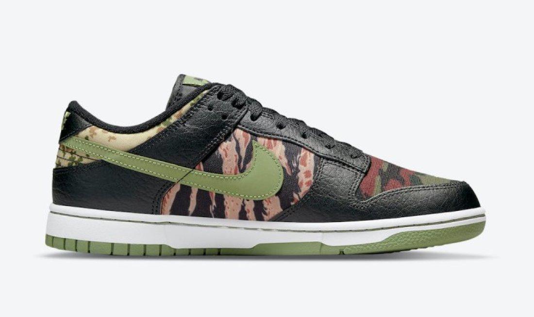 ナイキ SB ダンク ロー クレイジー カモ Nike-SB-Dunk-Low-Crazy-Camo-DH0957-001-side-01