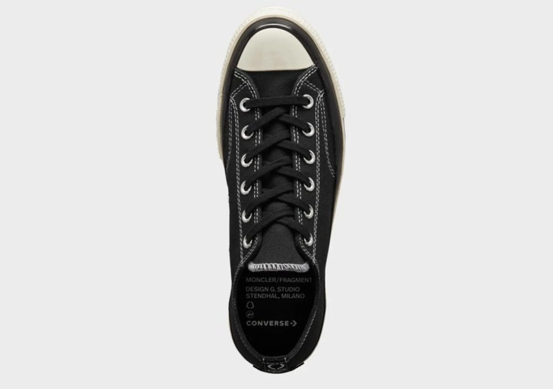 フラグメント デザイン × モンクレール × コンバース チャック 70 (ウィメンズ) fragment-Design-Moncler-Converse-Chuck-70-Low-black-top