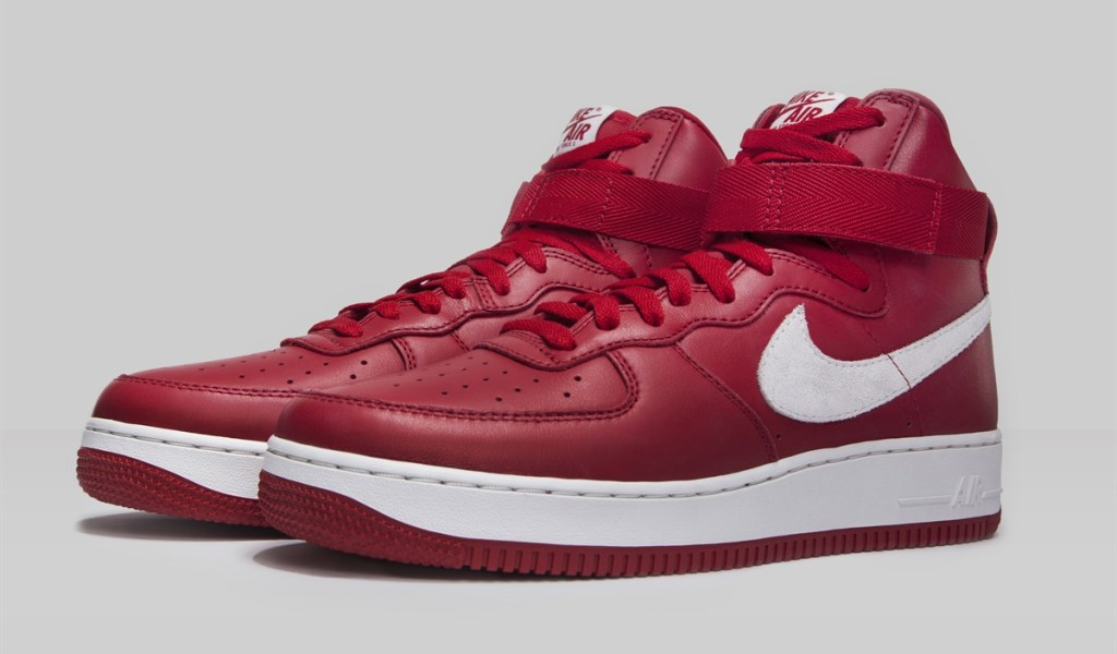 f88023e1a4623 Nike Air Force 1 High Nai Ke Gym Red Sneaker Bar Detroit