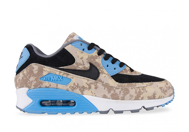 Nike Air Max 90 Digital Camo Blue Beige