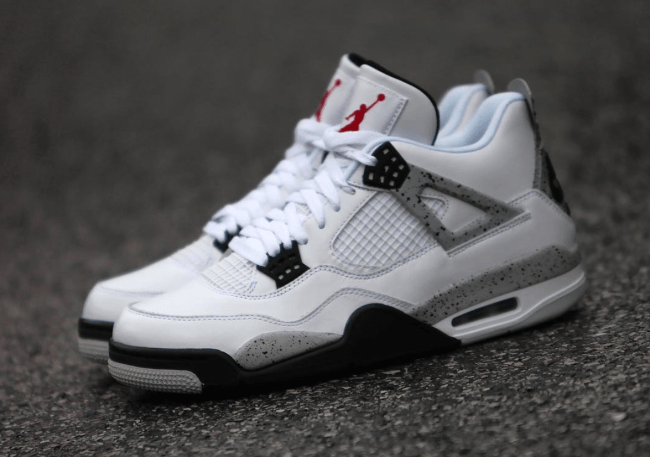 Image result for jordan 4 white cement