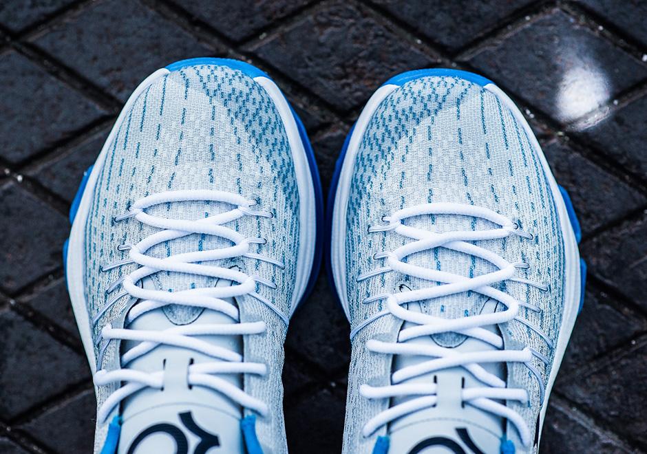 Nike KD 8 blanco de medianoche Armada Azul de la foto