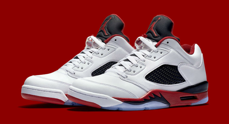 Fire Red Air Jordan 5 Retro Low