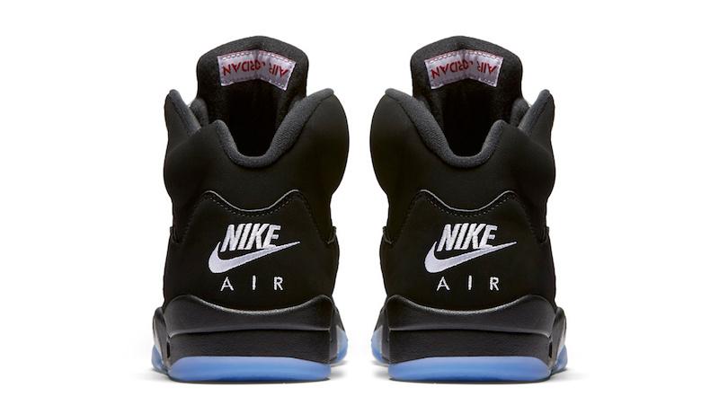 Air Jordan 5 Retro OG Black Metallic Silver Nike Air 2016 Release Date