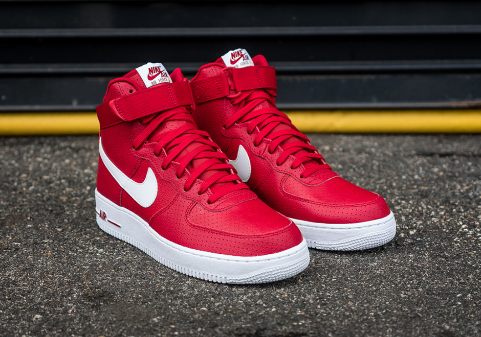 Buy all red high top nike air force ones up to 54
