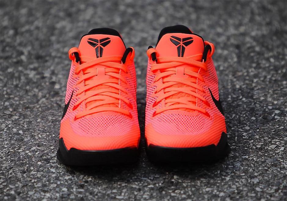 Fecha Nike Kobe 11 EM Barcelona, Mango brillante brillante carmesí de lanzamiento