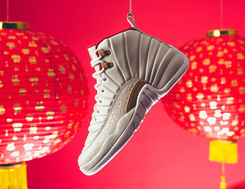 Air Jordan 12 CNY GS Light Orewood Brown Varsity Red 881428-142
