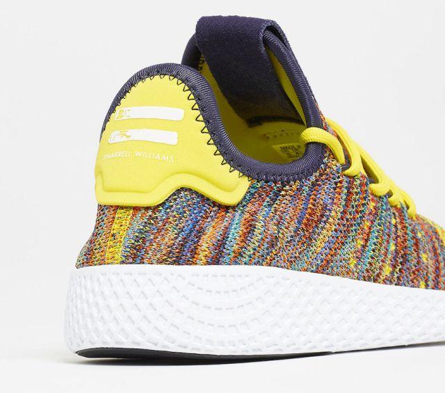 pharrell adidas tennis hu multcolor by2673 3 - Pharrell adidas Tennis Sneakers Drop Next Week In 3 New Colorways