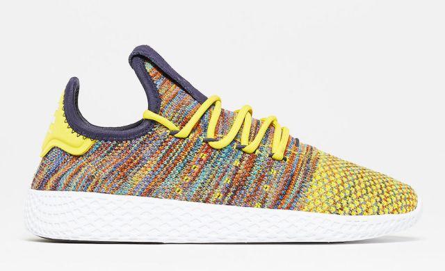 pharrell adidas tennis hu multcolor by2673 - Pharrell adidas Tennis Sneakers Drop Next Week In 3 New Colorways