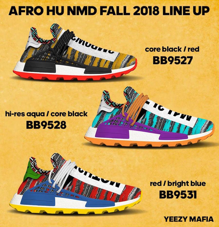 da27ed76a8d346 Pharrell x adidas Afro NMD Hu 2018 Fall Lineup – DeadStock Yeezys