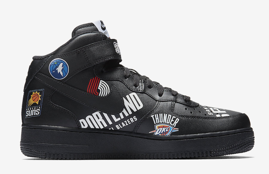 1 Mid Air Nike All Force Black 07