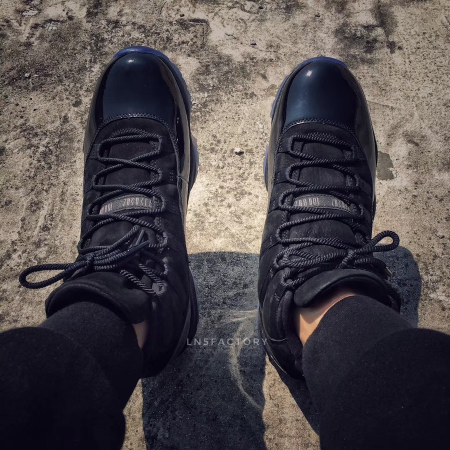 Prom Night Air Jordan 11 Black 378037-005 On-Feet Look