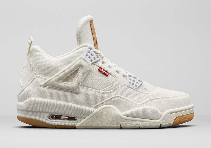 Levis x Air Jordan 4 White Denim AO2571-100