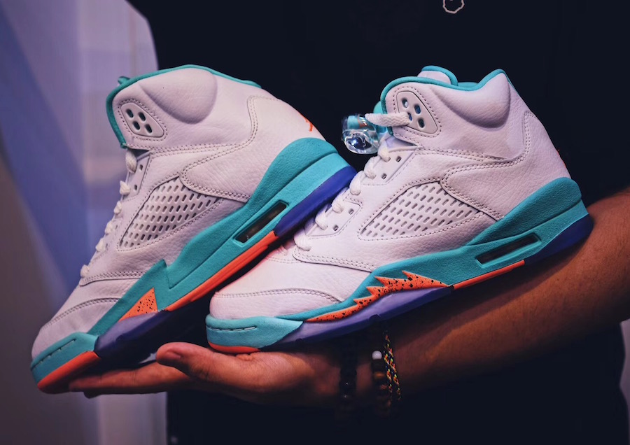 Air Jordan 5 Light Aqua Release Date