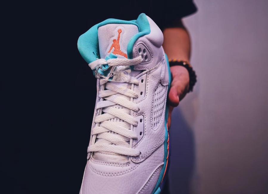 online store 36c14 cd506 Air Jordan 5 Light Aqua Release Date