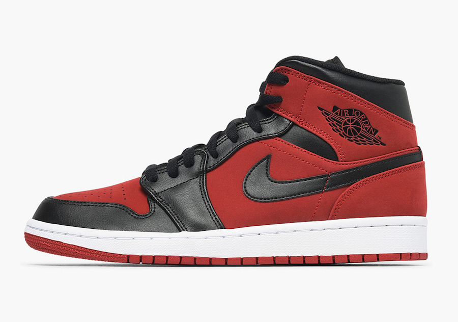 Air Jordan 1 Mid Bred Gym Red Black 554724-610