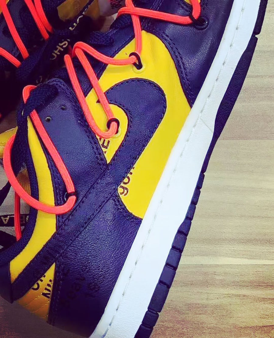 Off-White Nike Dunk Low University Gold Midnight Navy CT0856-700​​​​​​​ Release Date