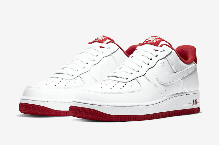 """Nike Air Force 1 Low """"University Red"""" Coming Soon: Official"""