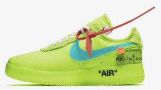 """【2018/10】オフホワイト x ナイキ エアフォース1 ロー """"ボルト"""" / Off-White x Nike Air Force 1 Low AO4606-700"""