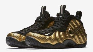 """10/19 ナイキ エア フォームポジットプロ """"メタリックゴールド"""" / Nike Air Foamposite Pro """"Metallic Gold"""" 624041-701"""