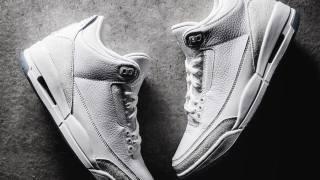 """【7/28】エアジョーダン3 """"トリプルホワイト"""" / Air Jordan 3  """"Pure White"""" 136064-111"""